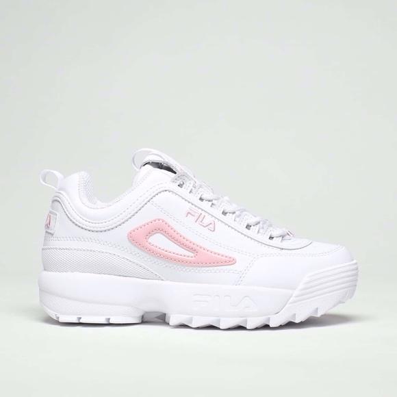 Fila Shoes | Fila White And Pink Symbol